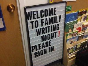 Family Writing Night